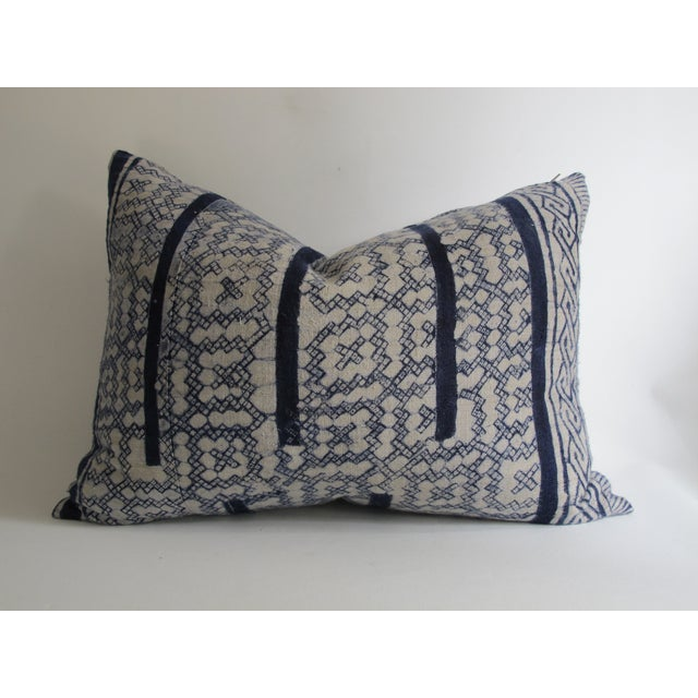 Vintage Blue Shibori Fabric Pillow - Image 2 of 5