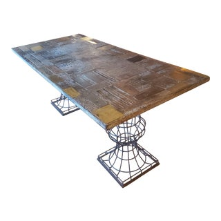 One of a Kind Hand Crafted Dining Table For Sale