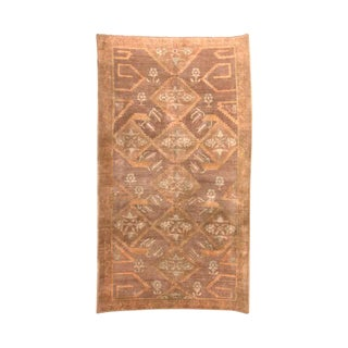 1950s Antique Hand-Woven Turkish Oushak Rug- 5′ × 8′6″ For Sale