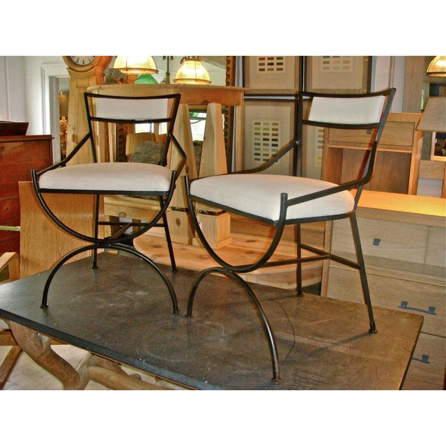 Pair of Mid Century Iron Chairs - Image 6 of 8
