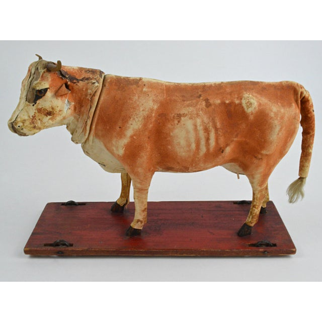 Vintage Leather Cow Pull Toy - Image 10 of 11