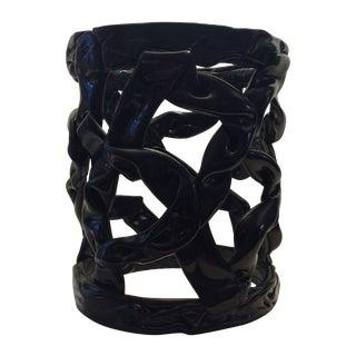 Vintage Black Ribbon Side Table