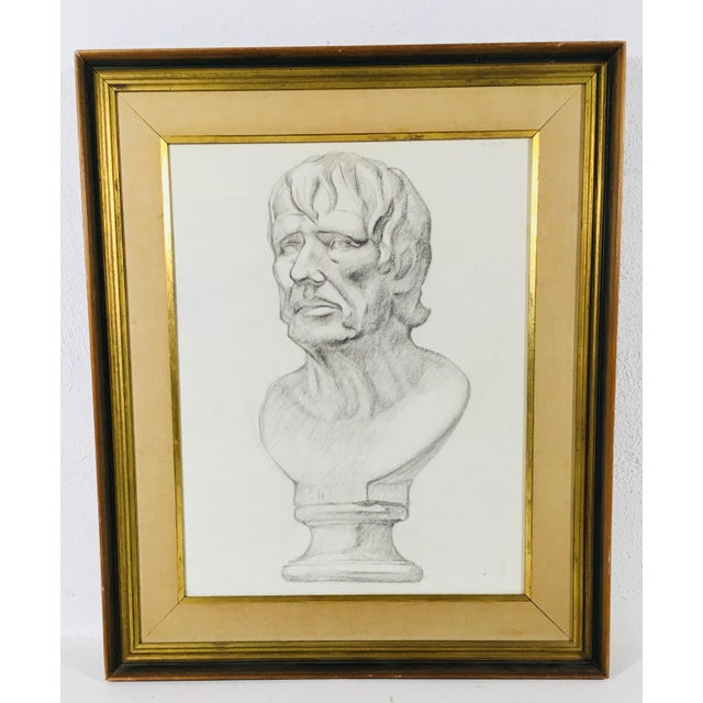 Academy Style Charcoal on Paper For Sale - Image 10 of 10