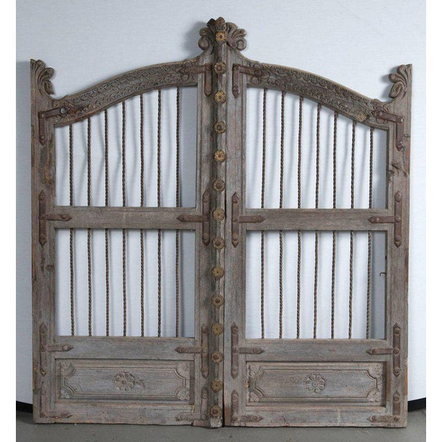 Vintage French Teak Garden Gate