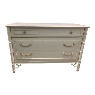 Thomasville Chinoiserie Faux Bamboo Chest For Sale