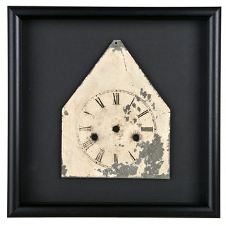 Framed Galvanized Metal Clock Face