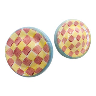 MacKenzie-Childs Round Knobs - a Pair For Sale