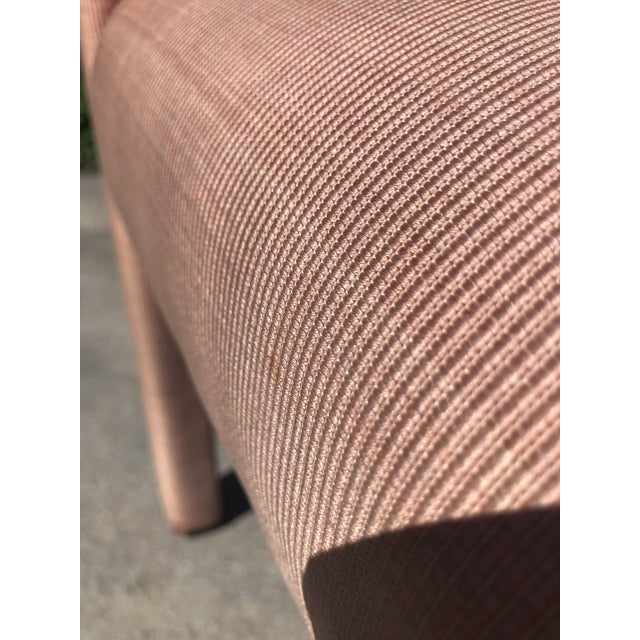Textile 1970s Vintage Hollywood Regency Upholstered Parsons Chair For Sale - Image 7 of 13
