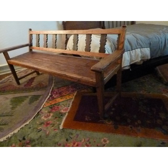 Reclaimed Tucker Robbins Exotic Wood Bench - Image 10 of 10