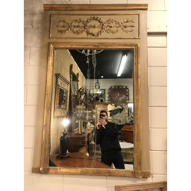 French Louis XVI Gilt Painted Mirror For Sale In Atlanta - Image 6 of 6