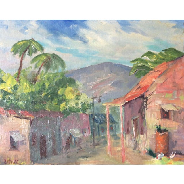 Original Signed 1920s Mexican Village Landscape - Image 1 of 10