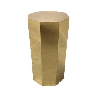 C Jere Style Modern Brass Octagonal Pedestal