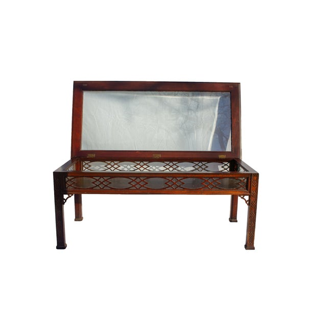 Kindel Furniture Kindel Glass Display/Shadowbox Coffee Table For Sale - Image 4 of 11