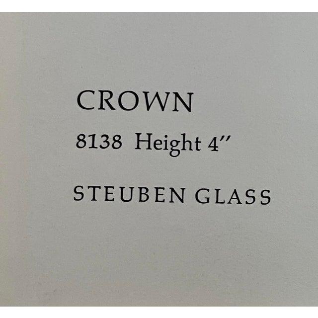Vintage Steuben Glass Lloyd Atkins Decorative Crystal Crown For Sale - Image 10 of 13