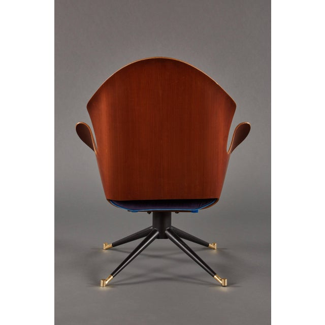 Rare and Sculptural Pair of Mid-Century Italian Swivel Chairs For Sale In Los Angeles - Image 6 of 11