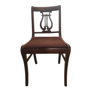 Antique Lyre Style Back Chair For Sale