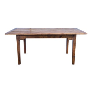 English Traditional Pine Farmhouse Table Reclaimed Barn Wood Dining Table For Sale