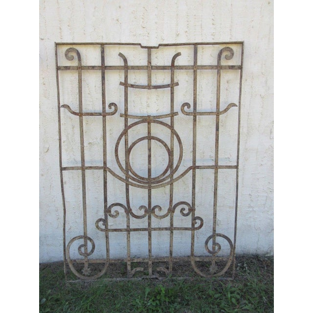 A piece of architectural salvage. Heavy and sturdy. Piece does show signs of age related wear including rust, flaking...
