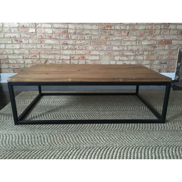 ABC Carpet & Home Wood and Steel Coffee Table - Image 4 of 8