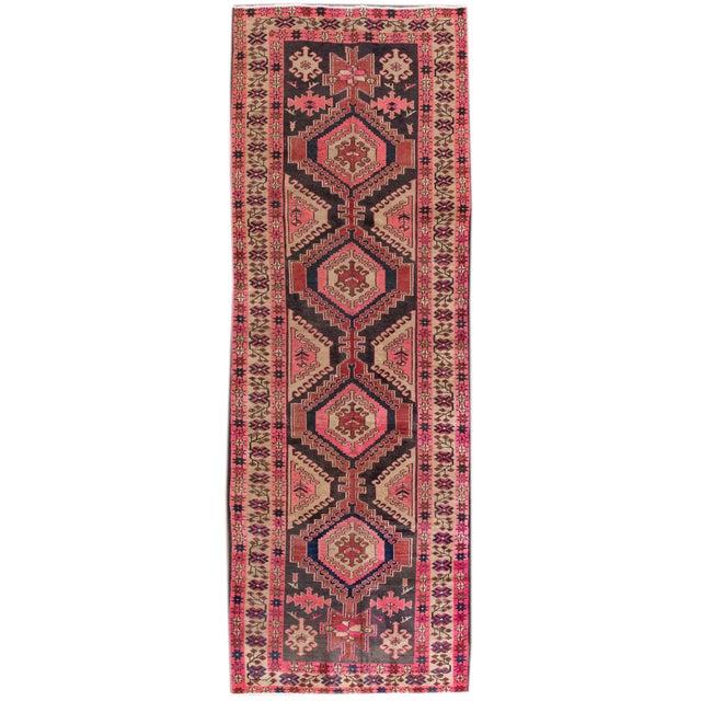 "Vintage Persian Heriz Rug, 3'8"" X 10'9"" - Image 8 of 8"