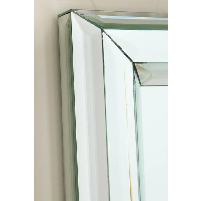 1990s Large All-Glass Wall Mirror For Sale - Image 5 of 7