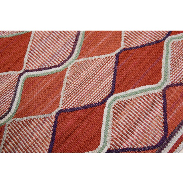 1950s Vintage Barbro Nilsson Flat-Weave Swedish Carpet for Marta Maas-Fjetterström For Sale - Image 5 of 10