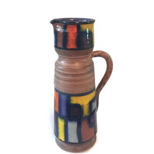 Modernist Fratelli Fanciullacci Mid-Century Ceramic Pitcher - Image 2 of 5