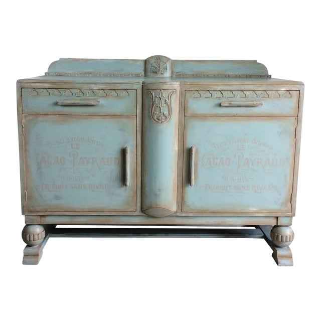 1930s French Cottage Painted Buffet For Sale