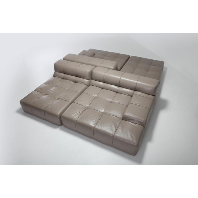 Tufty Time B&b Italia Taupe Leather Sectional Sofa by Patricia Urquiola For Sale - Image 9 of 11