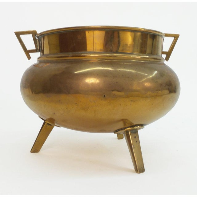 English Aesthetic Movement Period Brass Planter For Sale - Image 4 of 5