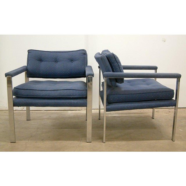 Mid-Century Modern 1970s Milo Baughman for Thayer Coggin Lounge Chairs - a Pair For Sale - Image 3 of 9