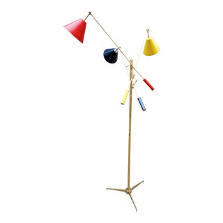 Angelo Lelli for Arredoluce Triennale Floor Lamp For Sale