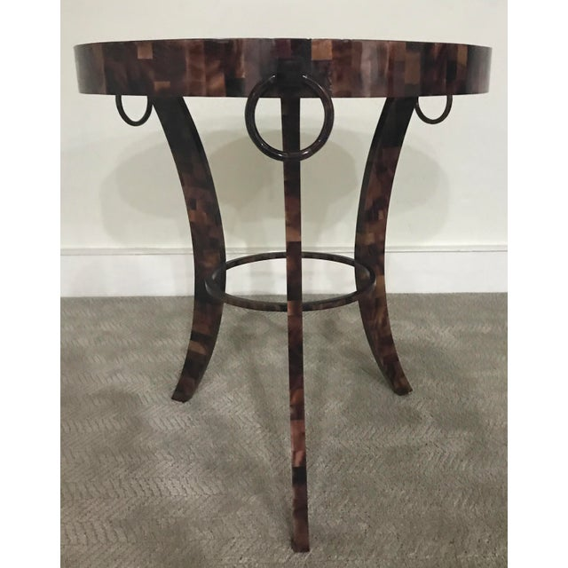 Eric Brand Tortoise Shell Side Table - Image 3 of 6