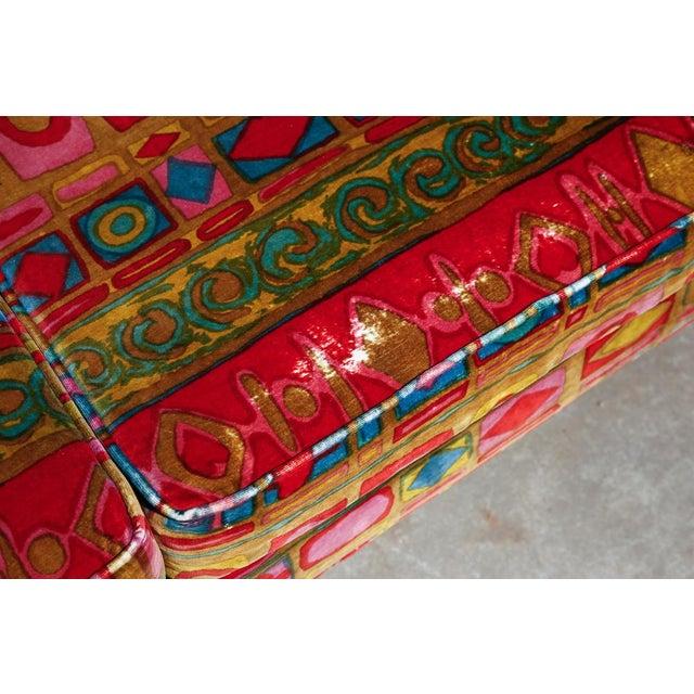 Edward Wormley Dunbar sofa with original Jack Lenor Larsen upholstery For Sale - Image 10 of 11