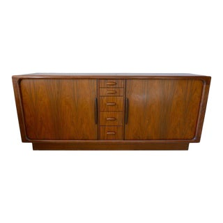 Dyrlund Dresser Credenza of Rosewood from Denmark with Tambor Doors, circa 1970