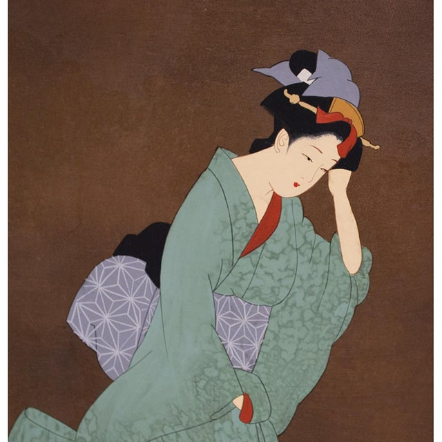 Asian Late Meiji or Early Taishō Era Japanese Painted Panel For Sale - Image 3 of 10