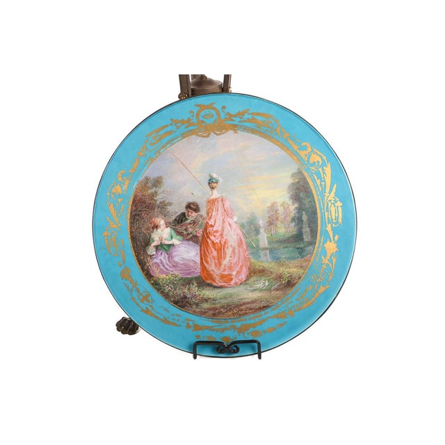 19th C. French Painted Porcelain Sevres Style Side Table - Image 6 of 10
