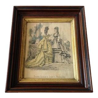 Antique Parisian Fashion Plate For Sale
