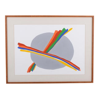 "1979 ""Rainbow Cloud"" Abstract Silkscreen by C. Daniel Gelakoska, Framed For Sale"
