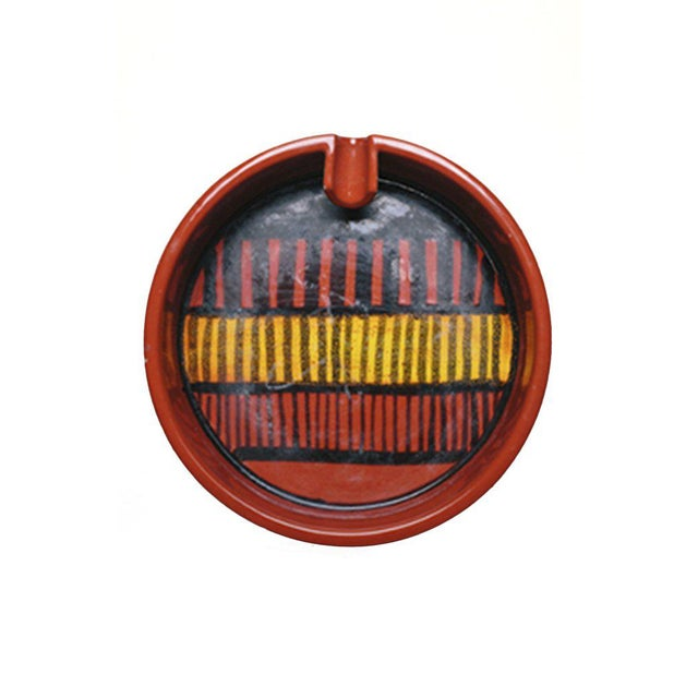 Mid-Century Modern Mid-Century Red & Black Ashtray For Sale - Image 3 of 3