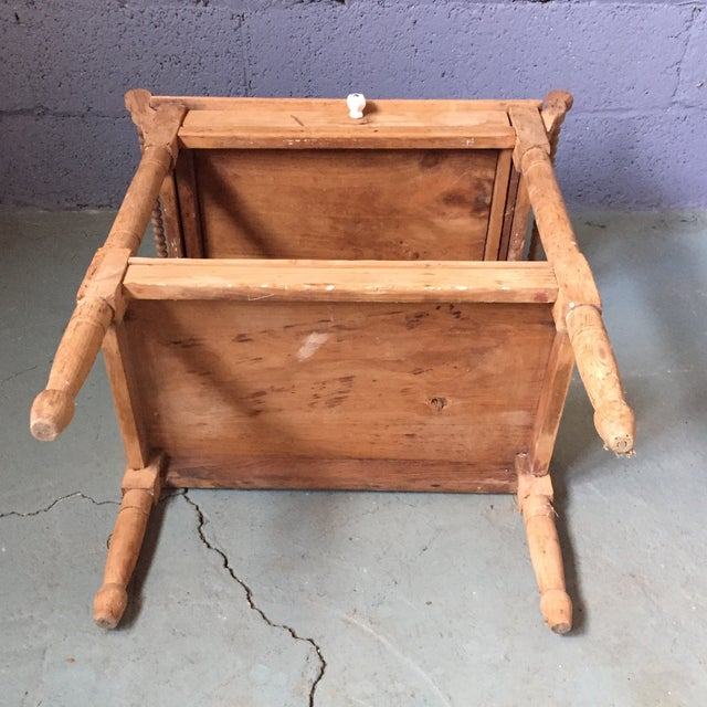 Antique Pine & Milk Glass Washstand For Sale - Image 10 of 11