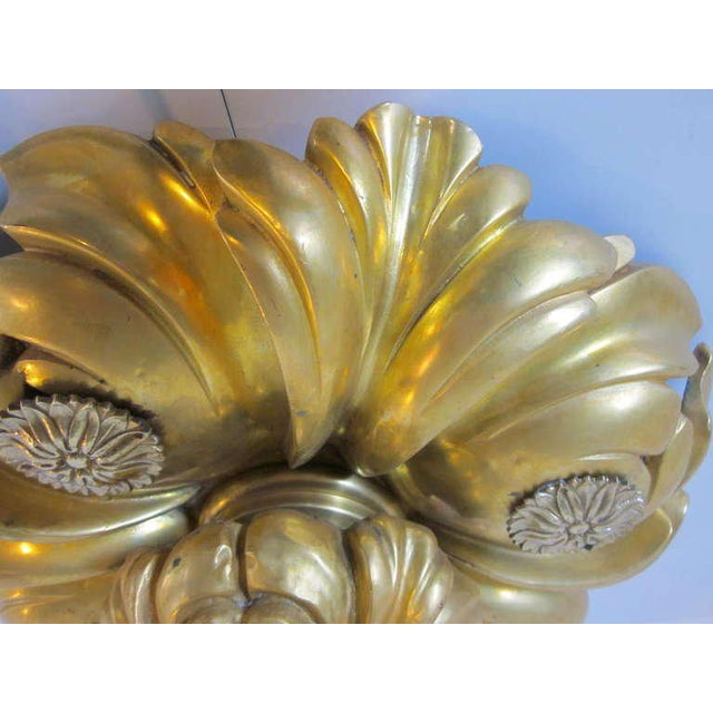 Early 20th Century E.F.Caldwell Art Nouveau Styled Gold Gilded Light Fixture For Sale - Image 5 of 8