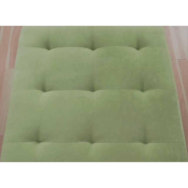 Modern Suede Ottoman/Coffee Table - Huge! For Sale - Image 3 of 4