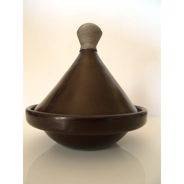 Antique Brown Moroccan Tagine - Image 4 of 8