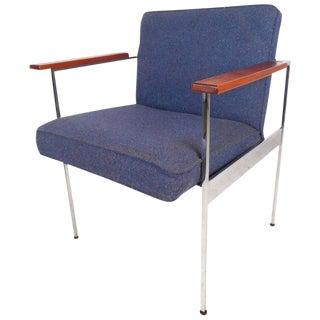 Milo Baughman Style Mid-Century Modern Armchair For Sale