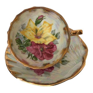 Roses Tea Cup & Clam Shape Saucer