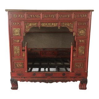 Carved Chinese Wedding Bed For Sale