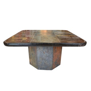 A Brutalist table by Paul Kingma