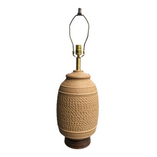 1960s Bob Kinzie Stoneware Table Lamp For Sale