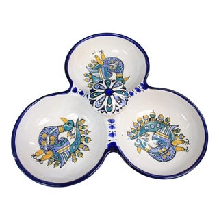 Vintage Turkish Duck Tri-Dish Bowl For Sale